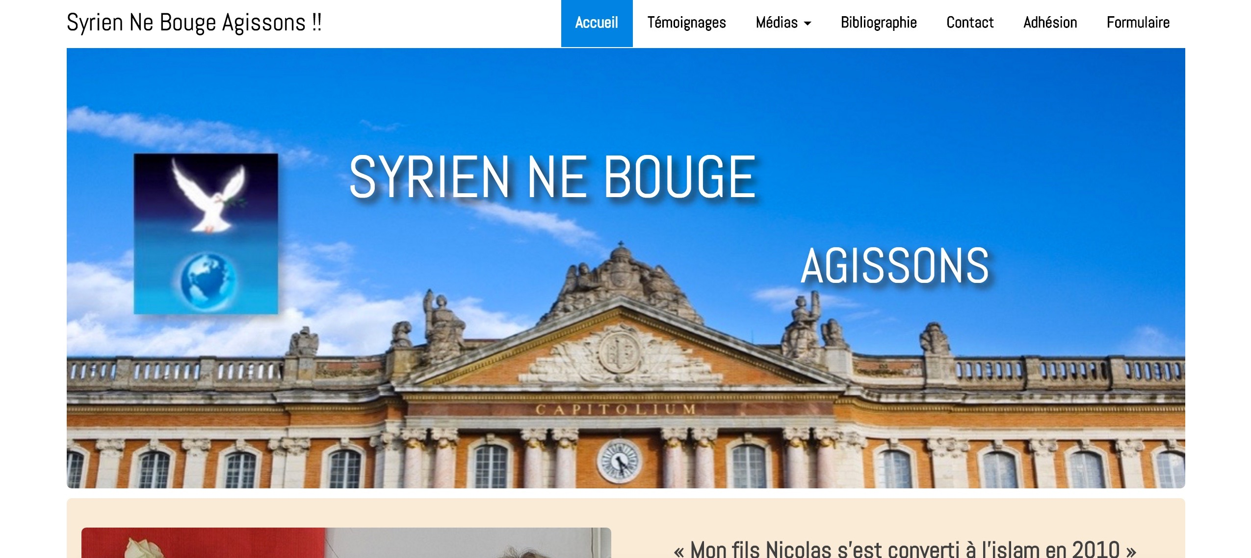 Miniature site association syrien ne bouge